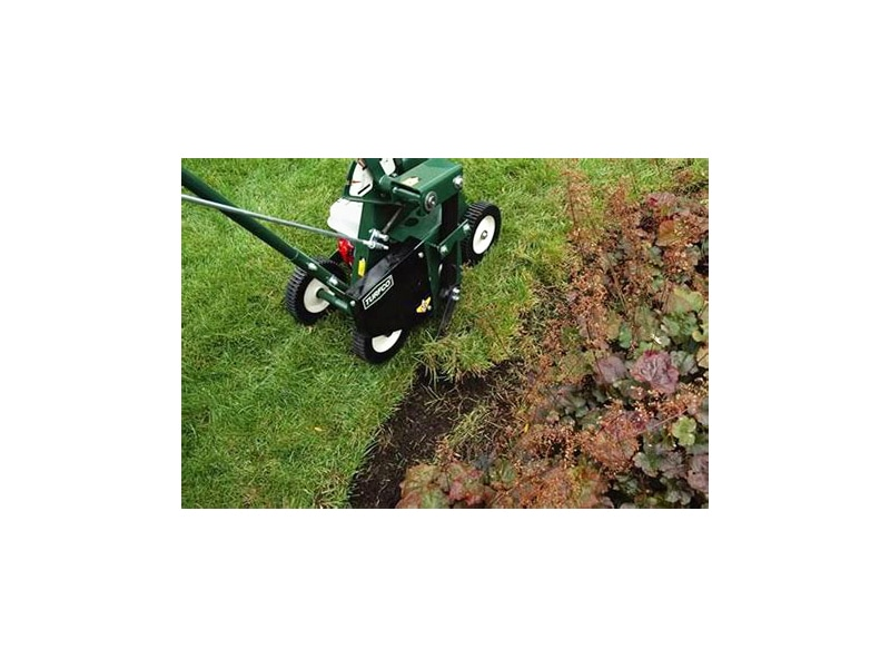 Cuts like a sod cutter without throwing debris